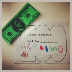 100 Day, $100, Artwork