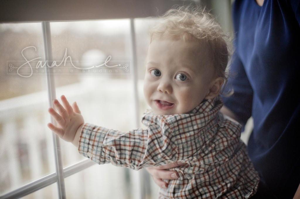 Adorable 1 year old photo!   Use a window!