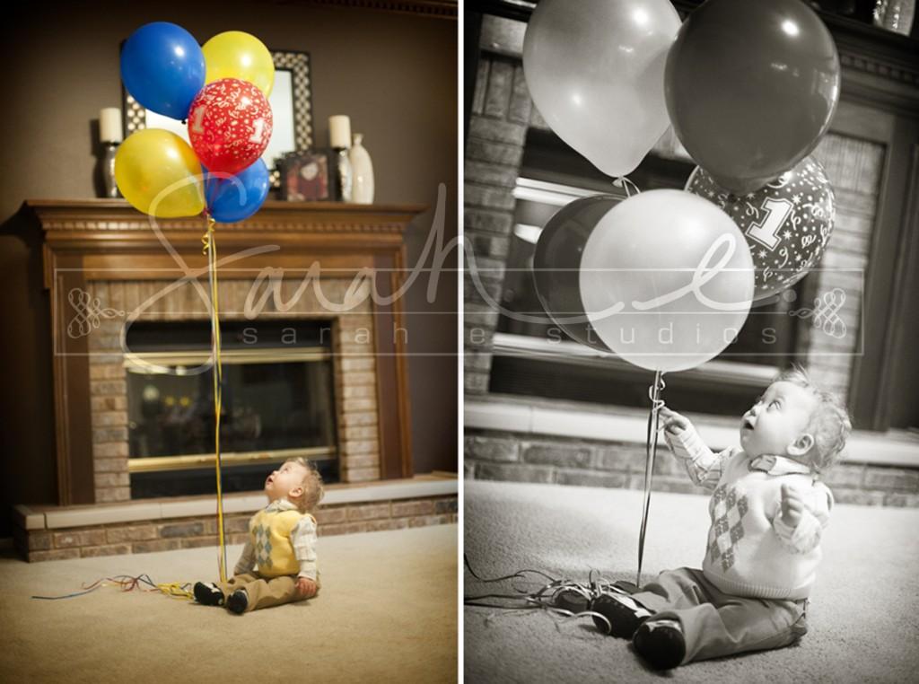 Family Photo Shoot - 1st Birthday Balloons