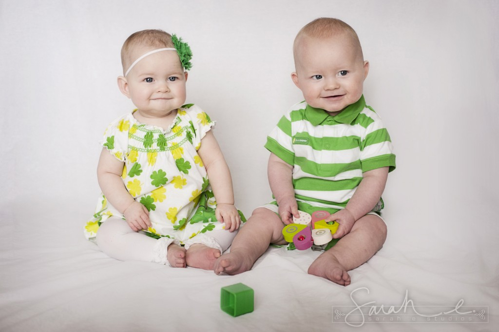 St. Patrick's Day Photo Inspriration - 8 Months - Twins -  001