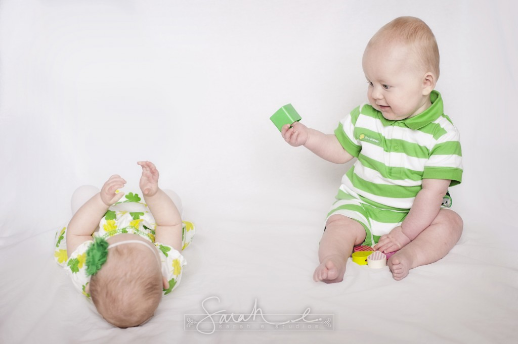 St. Patrick's Day Photo Inspriration - 8 Months - Twins -  014