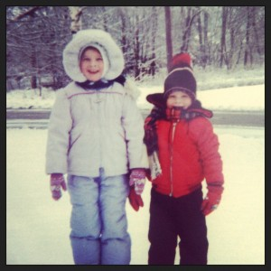 Siblings in the Snow Circa 1986