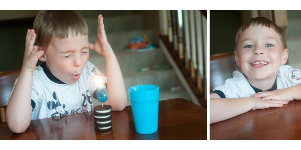 "L wanted an Oreo ""shake"" as his birthday treat!"