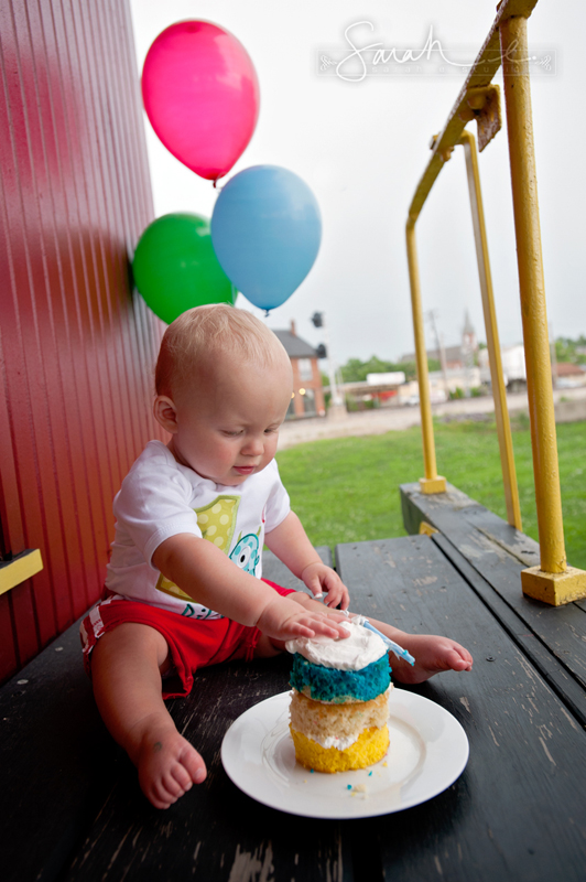 First Birthday Cake Smash - 35