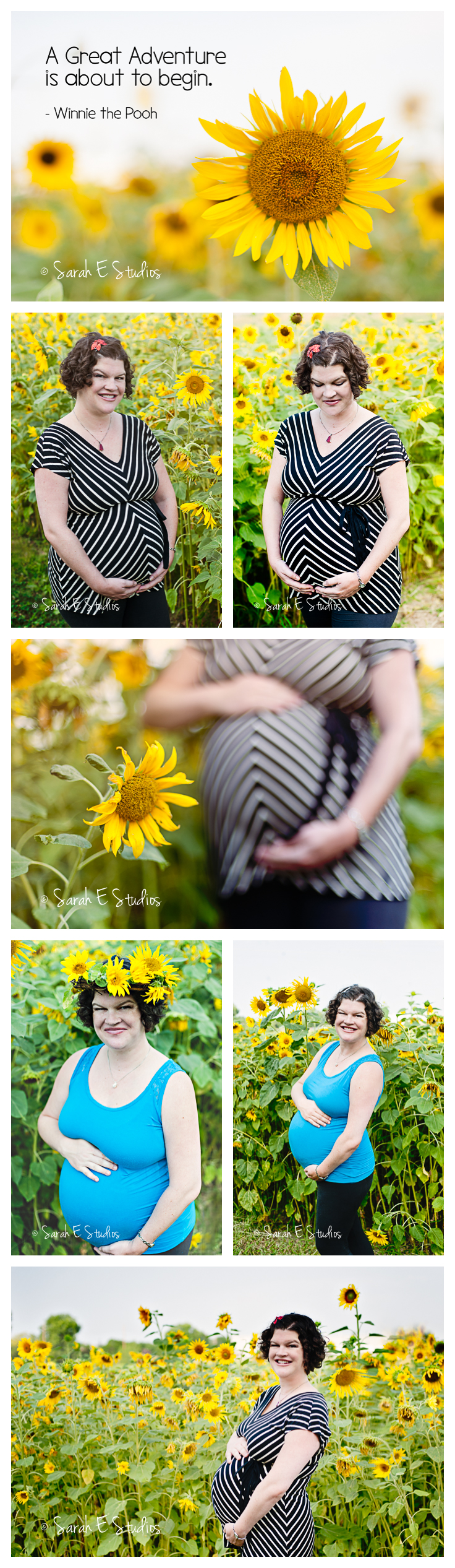 Maternity Session in a Sunflower Field