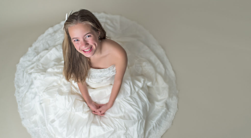 Tween-Girl-Wearing-Wedding-Dress